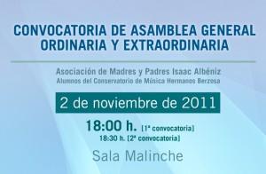 Convocatoria Asamblea de 2-11-2011