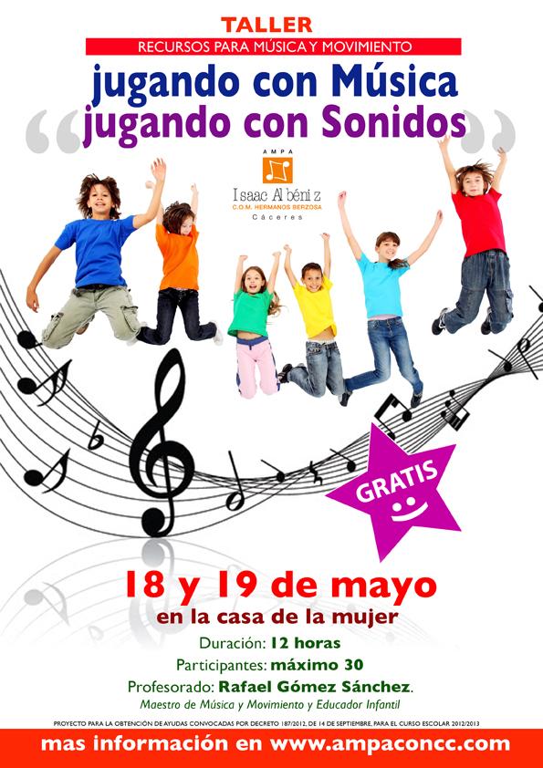 cartel taller Jugando con Sonidos